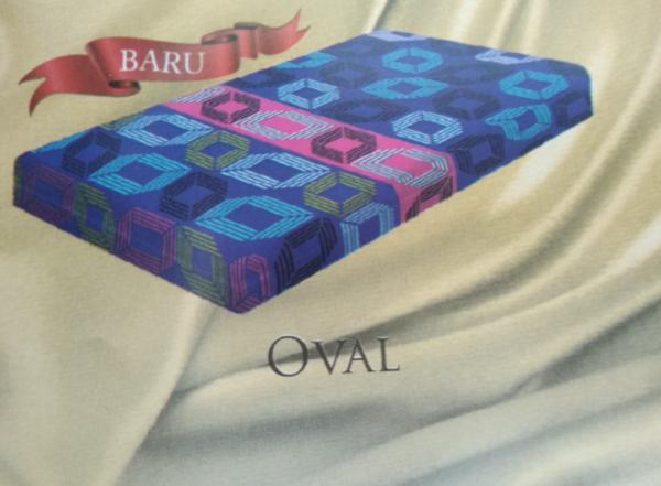 Oval adalah motif dari kasur busa inoac surabaya